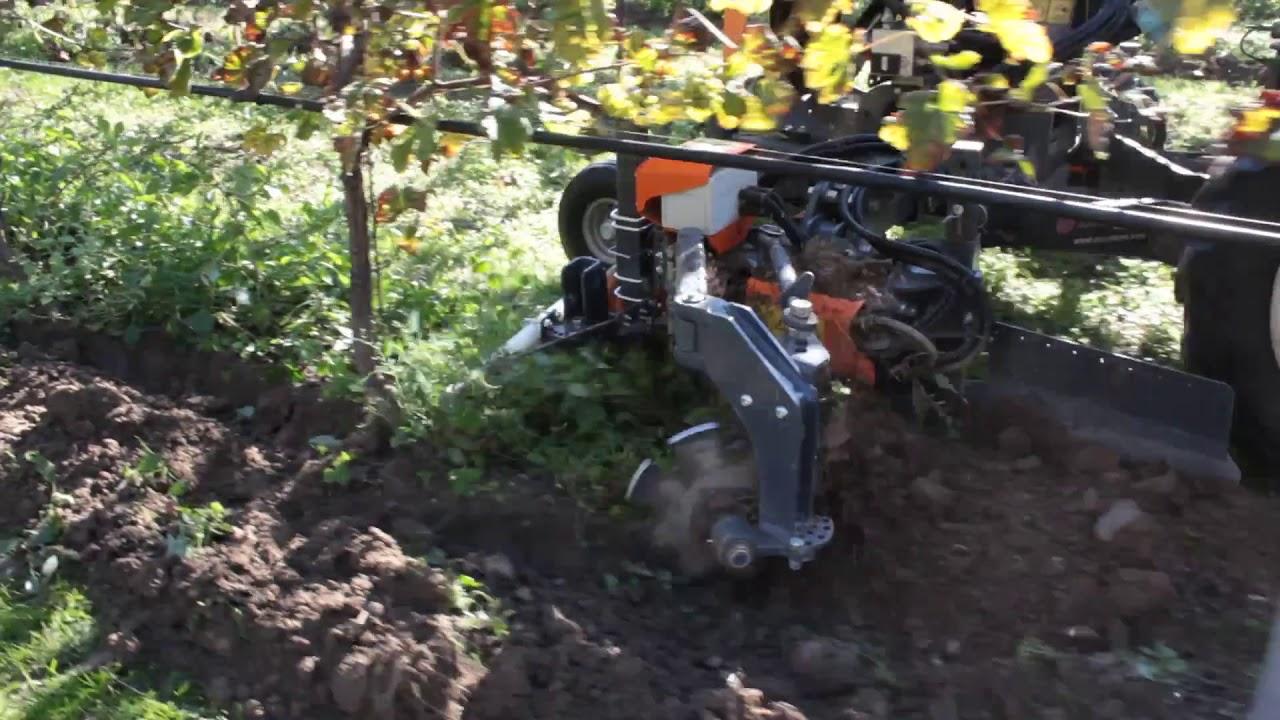 Scalzatore interceppo ATLAS Razor interfila elettronico idraulico lavorazione sottofila roto aratro