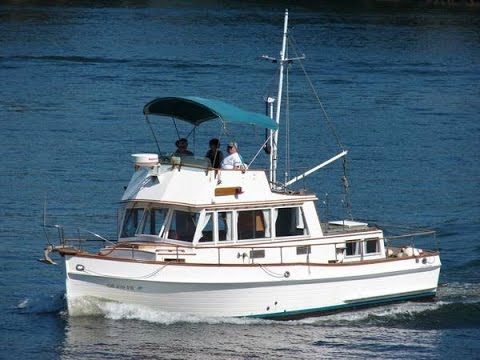 More small 25 FT diesel trawler with Yanmar 4JHE engine built in 1991 ...
