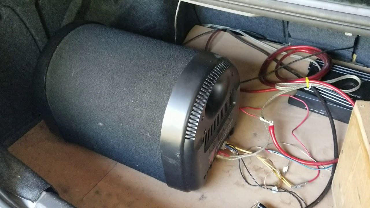 kenwood ksc wa100 powered subwoofer youtube kenwood subwoofer wiring [ 1280 x 720 Pixel ]