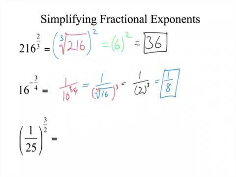 what do fractional exponents mean