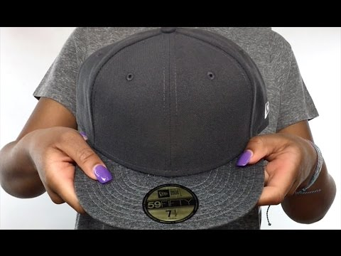 35f3a7258fc07 New Era  59FIFTY-BLANK  Charcoal-Shadow Tech Fitted Hat - YouTube