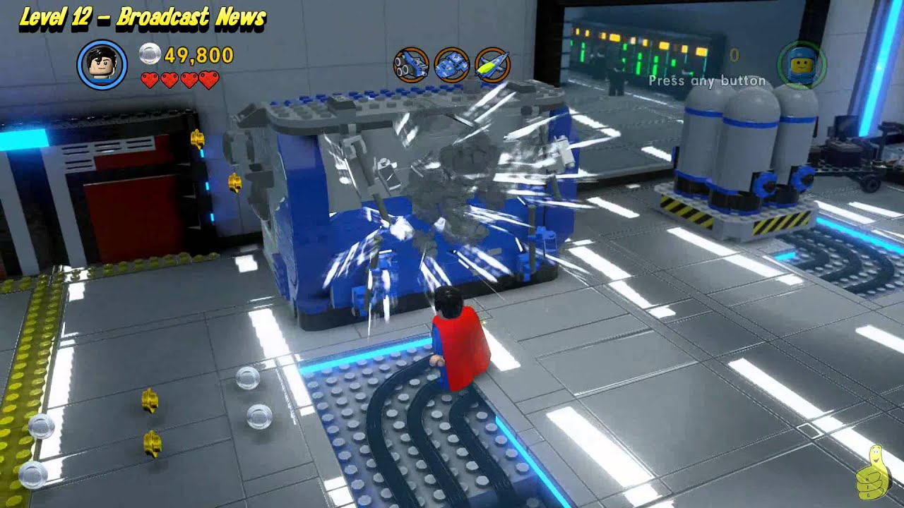 The Lego Movie Videogame: Level 12 Broadcast News - FREE PLAY - (Pants & Gold Manuals) - HTG
