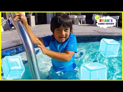 Download Ryan Swims in Super Cold Icy Swimming Pool!!! Mp4 baru