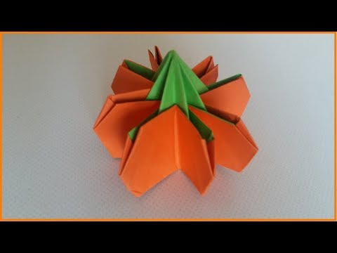 How to make a Paper Pumpkin? | Halloween Decorations | Origami pumkin