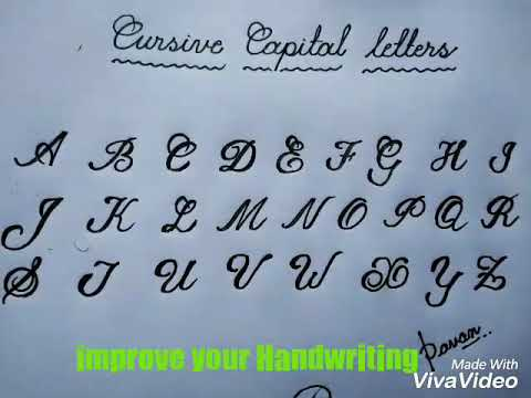 capital letters in cursive impact how to write cursive capital letters 20777 | hqdefault