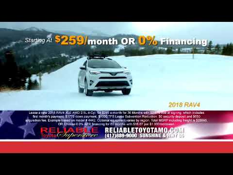 Reliable Toyota Presidents Day Sale 2018