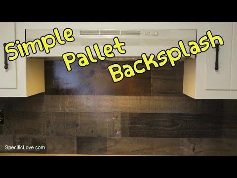 Super Simple Pallet Kitchen Backsplash
