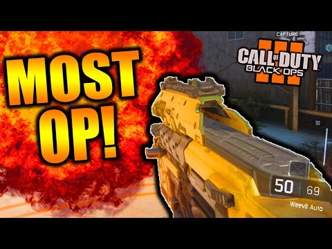 HOW TO MAKE THE WEEVIL OVERPOWERED! WEEVIL SMG BLACK OPS 3 BEST CLASS SETUP! (BO3 Weevil)