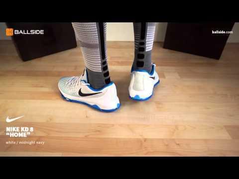 Nike KD 8 Home   on feet