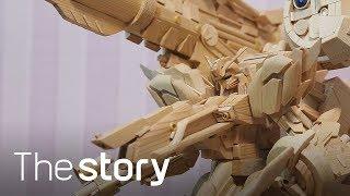 초고퀄! 236개 나무젓가락으로 만든 딥스트라이커 건담 등장 : 나무젓가락 공예, 백민수 (ENG/KOR/JPN sub)