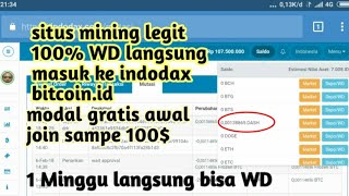 Westland storage Withdraw sukses masuk ke saldo indodax