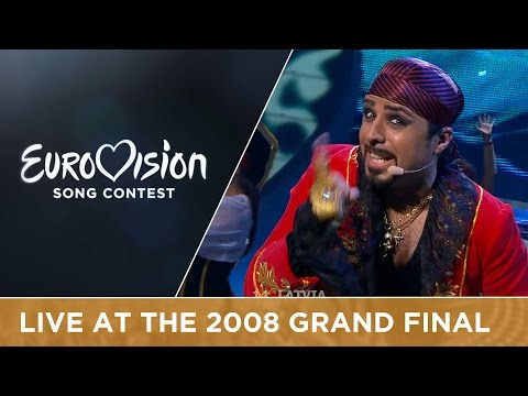 Pirates Of The Sea - Wolves Of The Sea (Latvia) Live 2008 Eurovision Song Contest