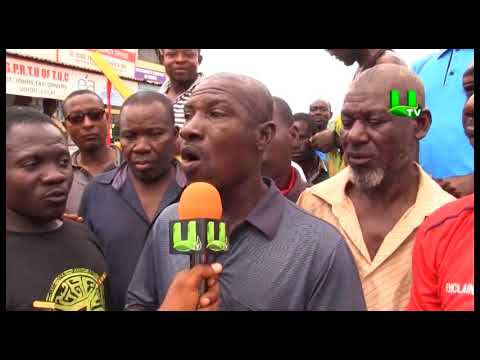 St. Johns Drivers and Traders protest against relocation