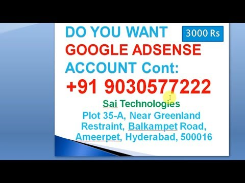Do you want google adsense aacoutn cont me earn money online do you want google adsense aacoutn cont me earn money online telugu 9030577222 ccuart Gallery
