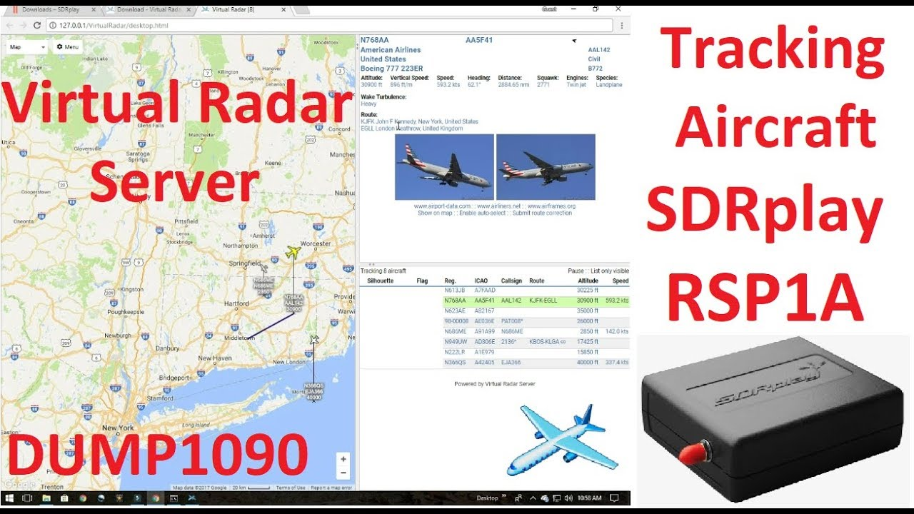 ADSB - Tracking Aircraft With SDRplay RSP1A Running DUMP1090