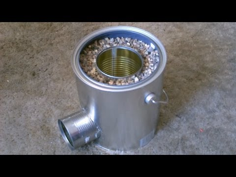 Homemade TIN CAN Rocket Stove - DIY Rocket Stove - Awesome Stove! - EASY instructions!
