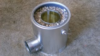 Repeat youtube video Homemade TIN CAN Rocket Stove - DIY Rocket Stove - Awesome Stove! - EASY instructions!