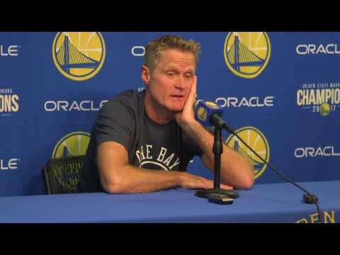 Steve Kerr reacts to Gordan Hayward