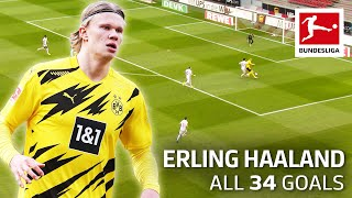 Erling Haaland - 34 Goals in Only 36 Matches
