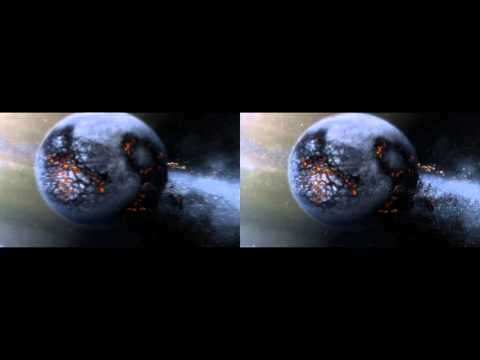 Virtual Reality 3D SBS Cosmic Video When Planets Collide