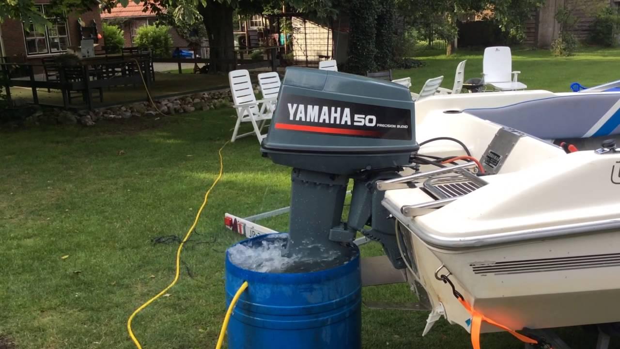 Ongekend Yamaha 50 pk 2 takt buitenboordmotor - YouTube JX-55