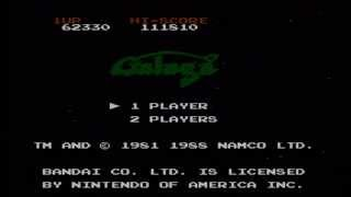 Galaga Wii VC NES Gameplay HQ [Lets Watch]