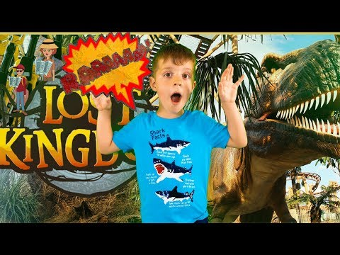 Trip To Paultons Park Home Of Peppa Pig World | David Pretend Play With Dinosaurs By Sarah Bros