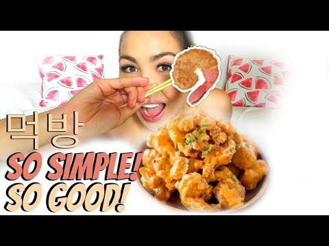 Easy Bang Bang Shrimp Recipe Mukbang   Eating Show