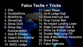 2017 Melee Techs Guide: Falco Melee Tricks