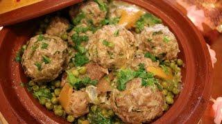 Attbak ramadan :Tadjin aux petit pois et artichauts ( طاجين قرنون والجلبان  ) - Matbakh kamar