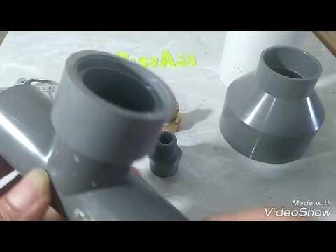 DIY gun sprayer plester tembok dari pvc