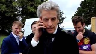Doctor Who Series 10 Filming - Peter Capaldi Talking To A Fan On The Phone