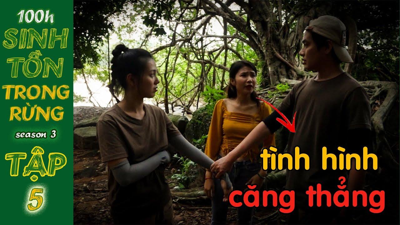 100H Sinh Tồn Trong Rừng | Tập 5: 2 Hotgirl KIẾM CHUYỆN Nhi Katy để có Được Vũ  | COUPLE K