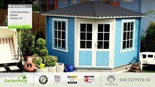 5 Eck Gartenhaus Modell Monica 40