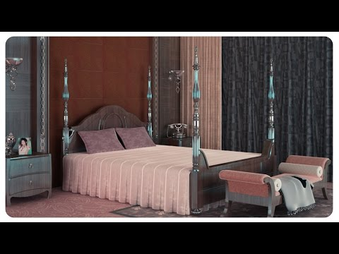 3DS Max Classic Interior Modeling V-Ray Design 2016 Vray+Photoshop Tutorial