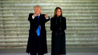 EPIC: Historical MOMENT - Donald and Melania Trump Walk Down Lincoln Memorial