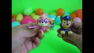 Nickelodeon Paw Patrol Finding Buddies in Egg Surpise, Play-Doh, Alphabets ABC