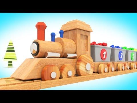 Видео: Мультик - Деревянный Паровозик и Шарики / Мультфильм для малышей  / #ВолшебствоТВ