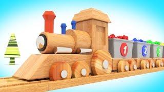 Мультик - Деревянный Паровозик и Шарики / Мультфильм для малышей  / #ВолшебствоТВ