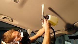 Как очистить обивку потолка в автомобиле