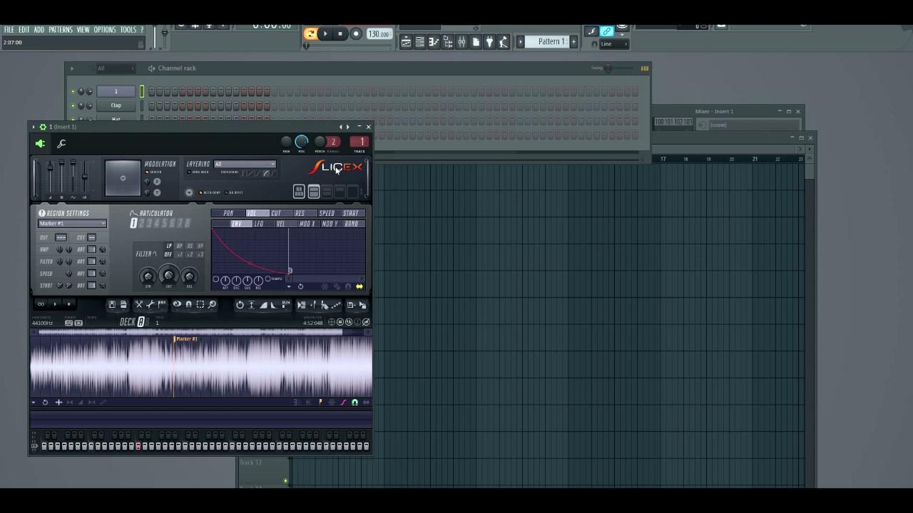 how to use slicex fl studio