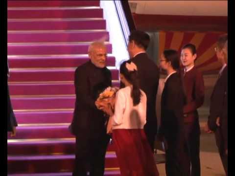 PM Modi arrives in Beijing