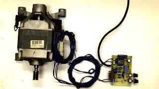 Regulátor otáček stejnosměrného motoru se sériovým buzením z pračky
