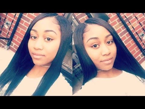 Natural Quick Weave Tutorial with Minimum Leave Out 😍😍