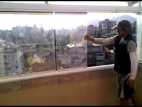 Toldos genova cierre terraza vidrio apertura total 3gp - Toldos para terrazas ...