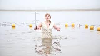 Крещенские купания на Солигорском водохранилище 2020