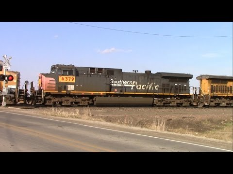 Southern Pacific unit in light power move at Boone, Iowa railyard