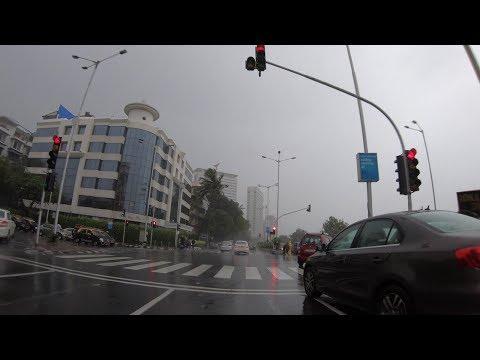4K Rainy Drive on Marine Drive | Mumbai, IN