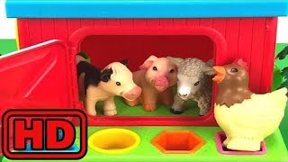 Kid -Kids -Learn Names and sounds of Farm Animals/Learn Colors And Shapes/Playing With Kinetic Sand
