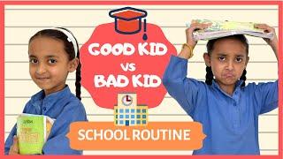 Good Kid vs Bad Kid - School Routine | Moral Stories for Kids | Good vs Bad | Types of Kids I #pihu